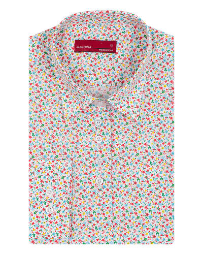 MAKROM - Womens Shirt Floral Design LL 3318