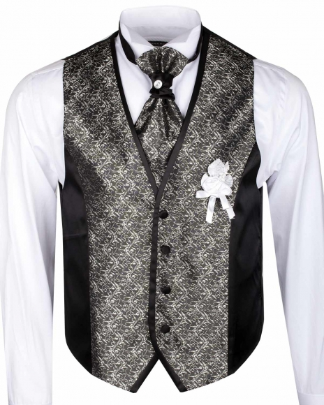 MAKROM - Patterned MAKROM Wedding Waistcoat YL 02 (Thumbnail - )