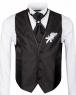 Floral Textured MAKROM Wedding Waistcoat YL 06 - Thumbnail