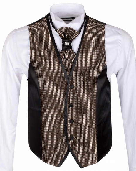 MAKROM - Checkhered MAKROM Wedding Waistcoat YL 07 (Thumbnail - )