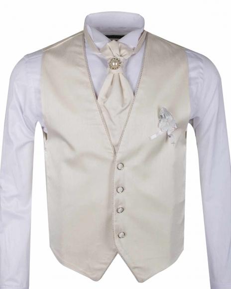 MAKROM - Plain MAKROM Wedding Waistcoat YL 08