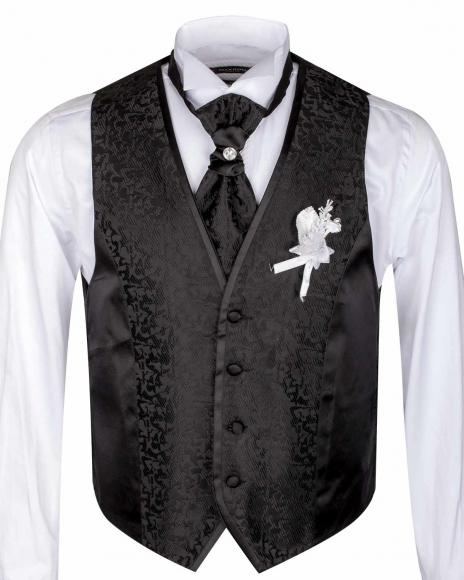 MAKROM - Textured MAKROM Wedding Waistcoat YL 09 (1)