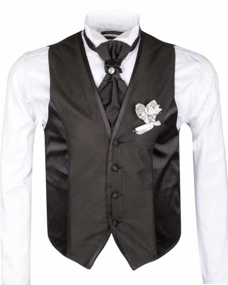 MAKROM - Checkhered MAKROM Wedding Waistcoat YL 10