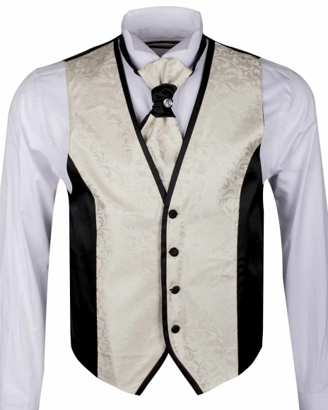 MAKROM - Textured MAKROM Wedding Waistcoat YL 11 (1)